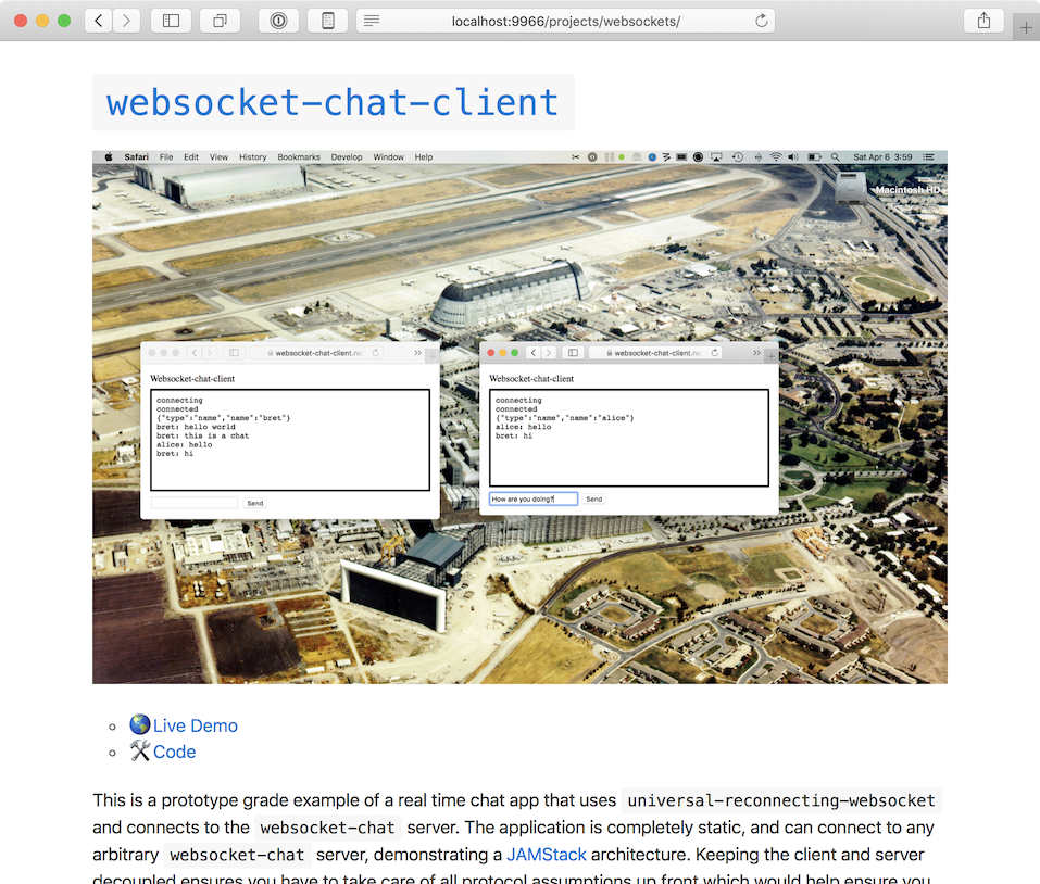 Screenshot of Websockets writeup